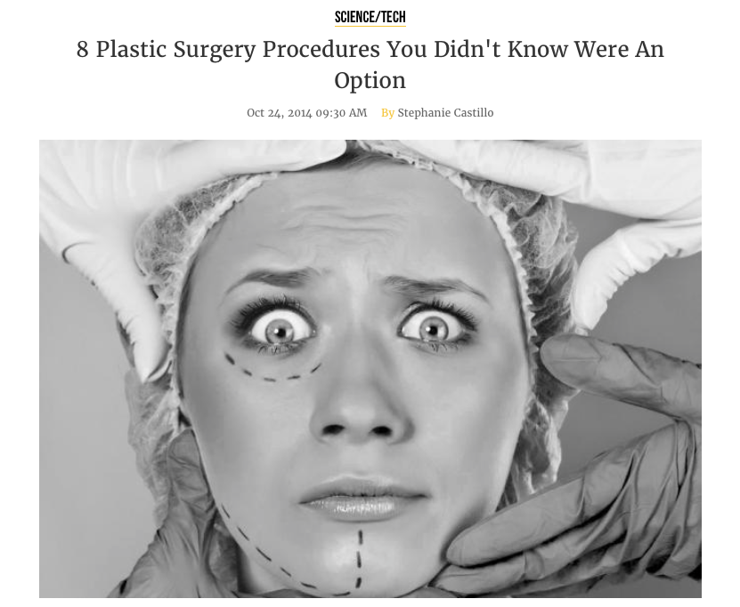 8 Plastic Surgery Procedures You Didn't Know Were An Option